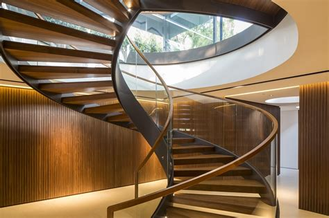 spiral staircase  turn  home  modern mansion architecture beast