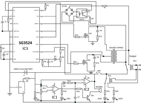 Shows The Complete Circuit Diagram Pwm Inverter