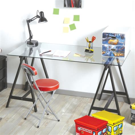 plateau en verre pour bureau plateau bureau en verre maison design modanes com
