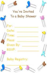 Free Baby Shower Printable Invitations by Free Printable Babyshower Invitation