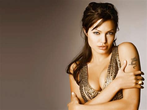 Hollywood All Stars Angelina Jolie Hot Wallpaper