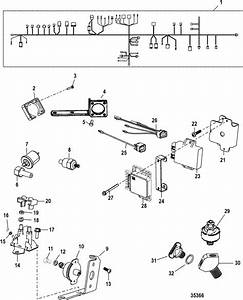 Mercruiser 357 Mag Bravo 4v Electrical Components Parts