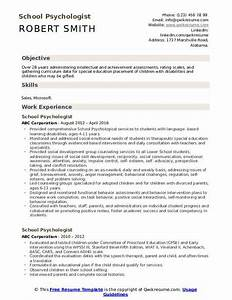 Special Skills And Abilities For Resume School Psychologist Resume Samples Qwikresume