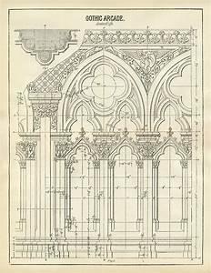 Architecture Printable Gothic Arches - Diagram