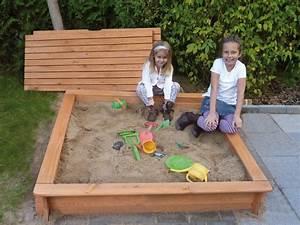 sandkasten holz promadino tessa deckel premium sandkiste With französischer balkon mit garten sandkasten