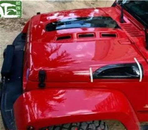 jeep avenger hood china engine hood with carbon fiber vents for jeep