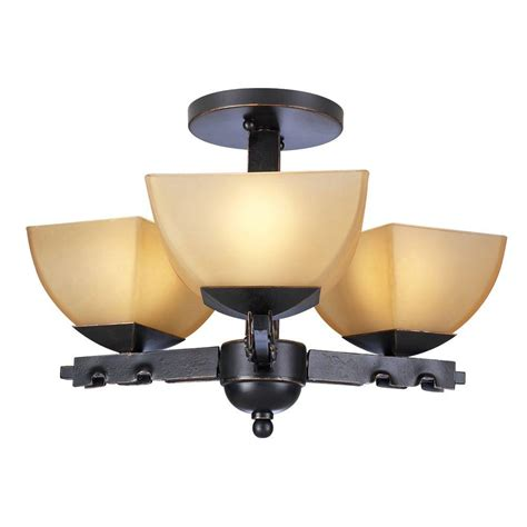 plc lighting 4 light semi flush mount ceiling light