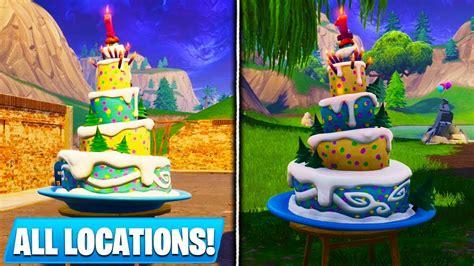 birthday cake locations  fortnite dance  front