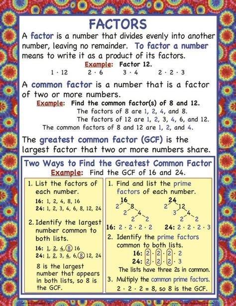 Factors, Multiples, Square Roots, And Prime & Composite Numbers Mcp117