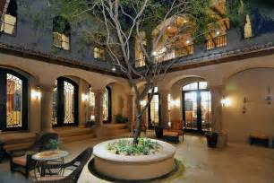 spanish style homes  courtyards spanish colonial estate luxury calvis wyant homes