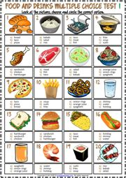 food  drinks esl vocabulary worksheets
