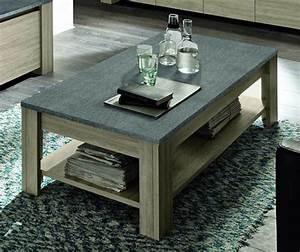 Table De Cuisine Grise : table basse double plateau elba chene gris ~ Dode.kayakingforconservation.com Idées de Décoration