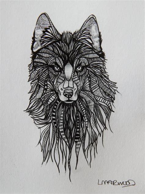 wolf tattoo sketch  laurenmarwood  deviantart