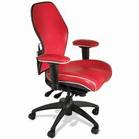 red desk chair Executive Office Chair Red Leather