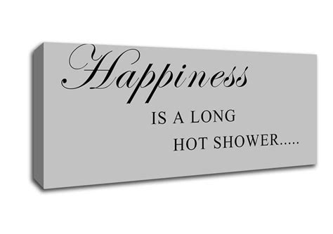 Bathroom Quotes Uk by Happiness Is A Shower Grey Text Quotes Panoramic