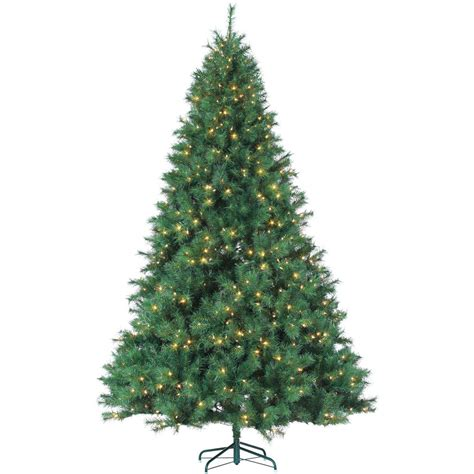 sterling nine foot flocked led trees sterling 9 ft pre lit mixed needle wisconsin spruce artificial tree with clear lights