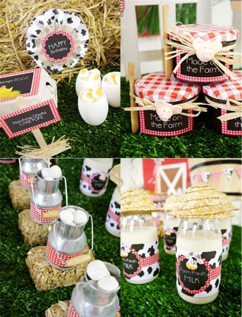 barnyard birthday party printables supplies birdspartycom