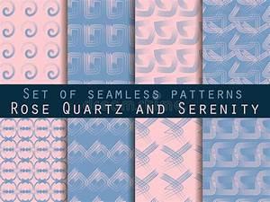 Tapete Geometrische Muster : set geometrische nahtlose muster rosenquarz und ruheveilchenfarben vektor abbildung ~ Sanjose-hotels-ca.com Haus und Dekorationen