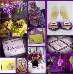 purple wedding ideas fabulous weddings events a daring color scheme yellow and purple