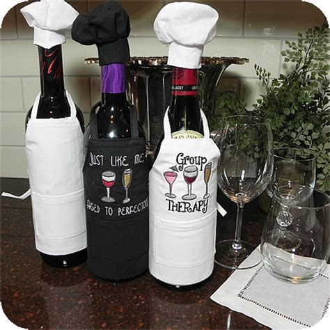 Wine Bottle Apron & Chef Hat Set
