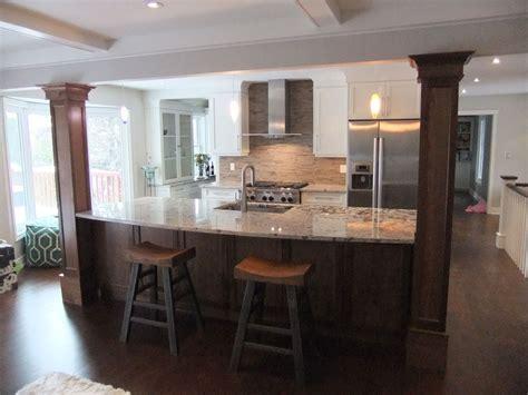 kitchen island with columns index of gallery photos kitchens burlington kitchen 1