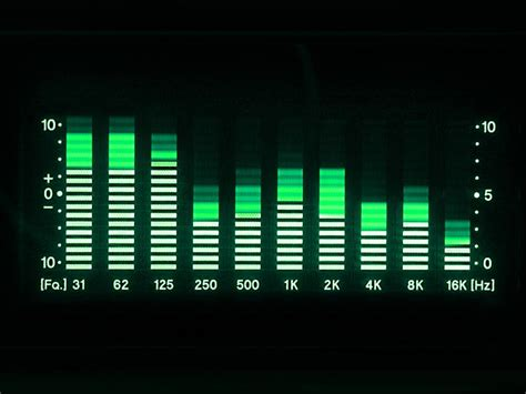 how to adjust frequencies a stereo audio equalizer