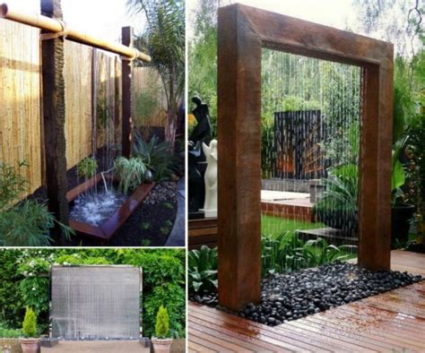how to make a water wall wonderful diy patio water wall