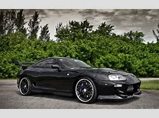 Toyota Supra black wallpapers and images wallpapers