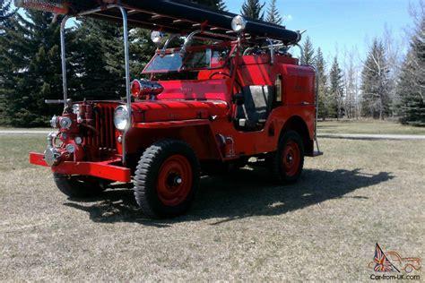 jeep fire truck for sale willys cj2a fire truck