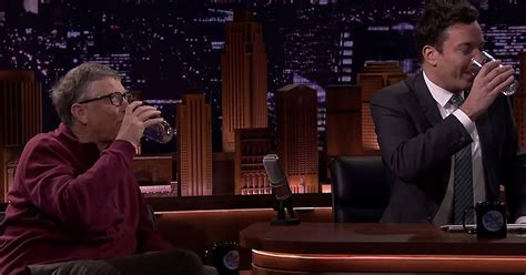 Bill Gates tricks Jimmy Fallon into drinking 'poop water ...