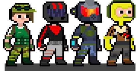 Pixel Art Fortnite Skin Hamburger Fortnite Free Zone