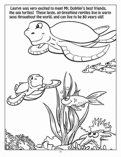 Coloring Sea Under Ocean Pages Printable Sheets