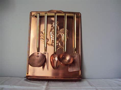 porte ustensile de cuisine ancien porte ustensiles de cuisine en cuivre complet de