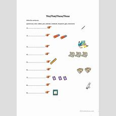 Thisthatthesethoseclassroom Objects Worksheet  Free Esl Printable Worksheets Made By Teachers