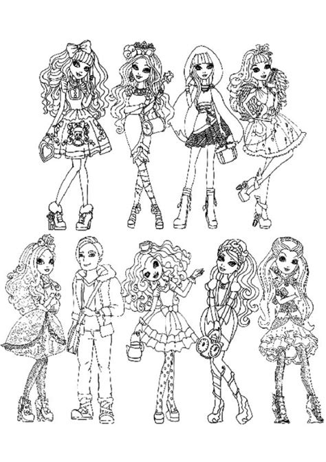 high coloring pages  girls fgt