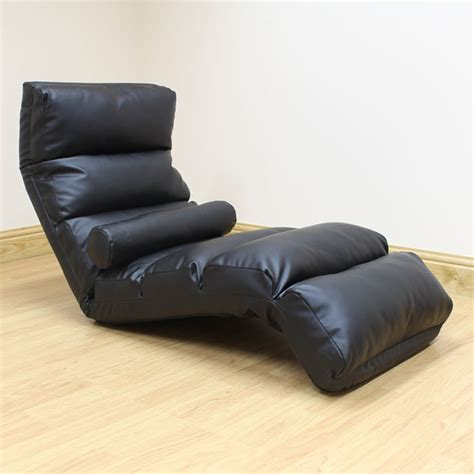 black lounger chaise longue day bed adjustable lounge seat