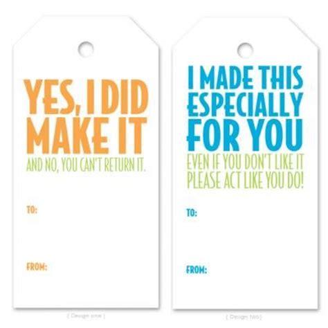 hilarous gift tags  printables  girl   glue gun