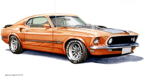 maddmax muscle car art  automotive art  ford