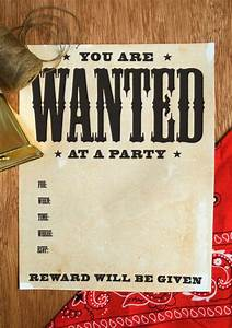 how to make party invitations on word wanted poster how to on onecharmingparty com