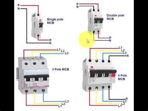 mcb connection  wiring  urdu hindi youtube