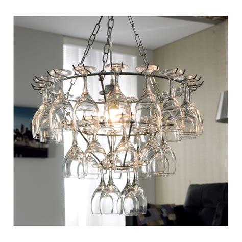 wine glass chandelier dwell