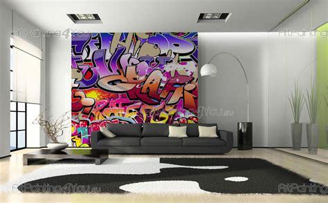 papier peint graffiti musique poster impression sur