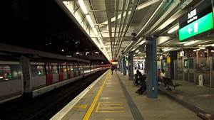 Subway Train At Night Free Stock Photo - Public Domain
