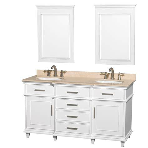 white double sink vanity ackley 60 inch white finish double sink bathroom vanity