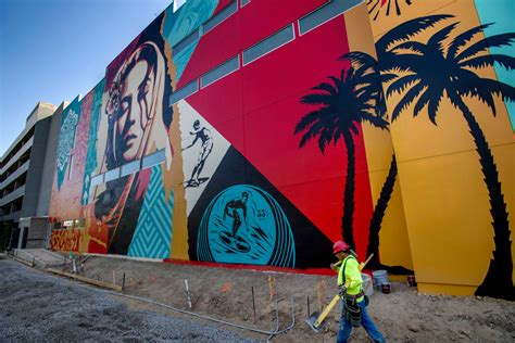 shepard faireys  foot high  home mural