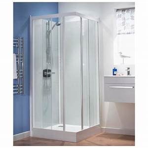kinedo kineprime glass 700 x 700mm corner slider shower With shower cubicles small bathrooms