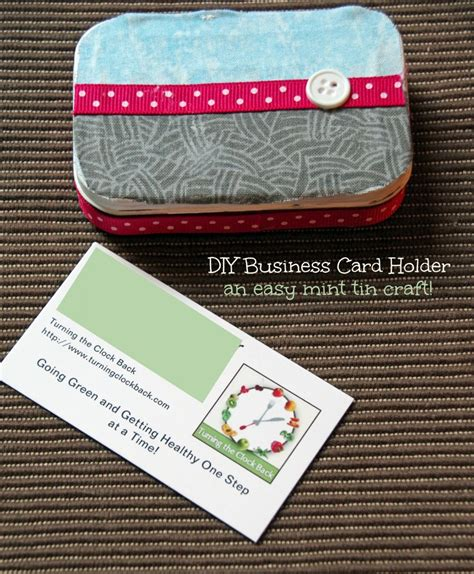 Get frame personalized business cards or make your own from scratch! DIY Business Card Holder - Turning the Clock Back