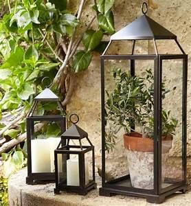 Deco de jardin en lanternes d39exterieur avec bougies et for Decoration pour jardin exterieur 7 dressing design