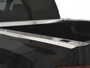willmore diamond plate bed rail caps aluminum truck