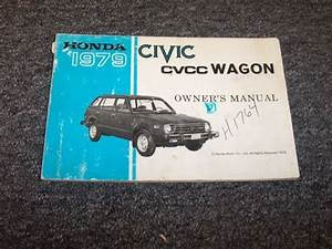1979 Honda Civic Cvcc Wagon Owner Owner U0026 39 S Manual User